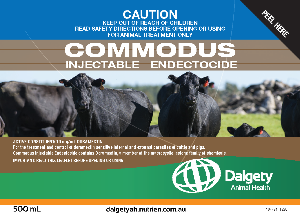 Commodus Injectable Endectocide Dalgety Animal Health