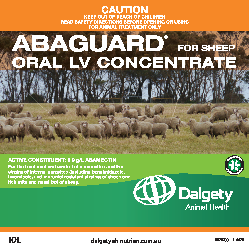 Abaguard Oral LV Concentrate For Sheep Dalgety Animal Health