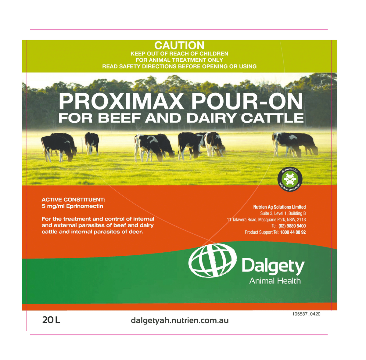 Proxima Pour-On For Beef And Dairy Cattle